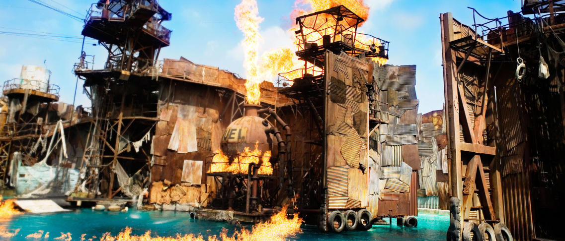 What Universal Studios' Waterworld Got Right About A Stunt Show, Wrong About Climate Change: LAist