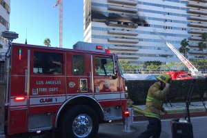 L.A. Fire Officials Say 19-Year-Old Man Injured In High-Rise Fire Has Died