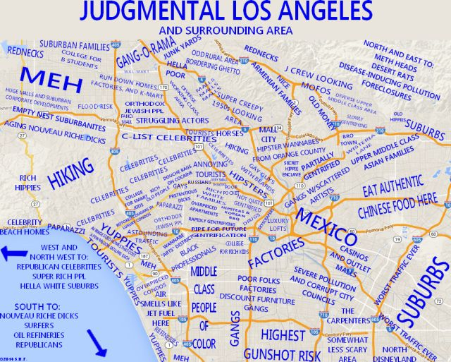 Judgmental\' Map Labels Every Part Of Los Angeles Area: LAist