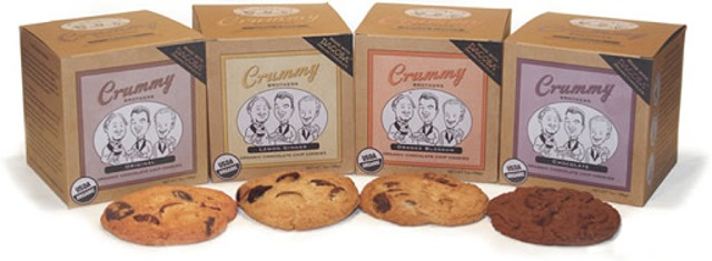 Crummy Brothers' Chocolate Chip Cookies come in 4 flavors and you can get them at Whole Foods