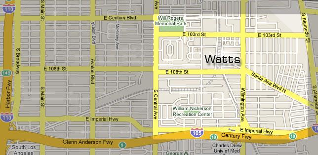 Watts area boundaries