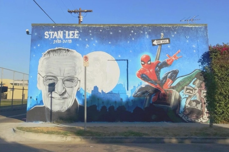 excelsior mural fans stan lee gets a spray painted south la