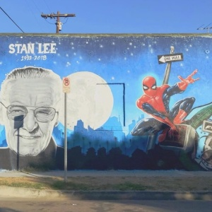 Excelsior, Mural Fans! Stan Lee Gets A Spray-Painted South LA Tribute