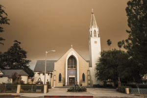 Photos: Yellow Skies And Murky Road Conditions In Angeles Foothills