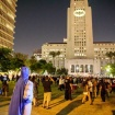 Photos, Video: Large Turnout For City Hall's Bat-Signal Ceremony Honoring Adam West