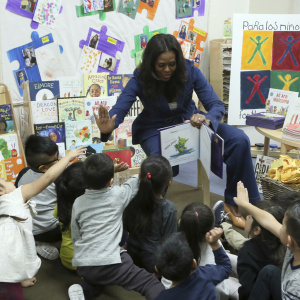 Michelle Obama Went To A DTLA School And Crushed Storytime