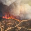 Large Brush Fire Burns Near Castaic Lake