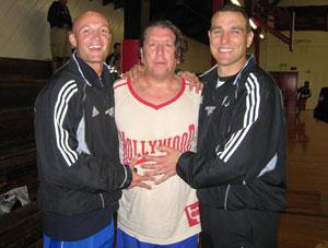 Frank LeBoeuf, Steve Jones & Vinnie Jones of Hollywood United