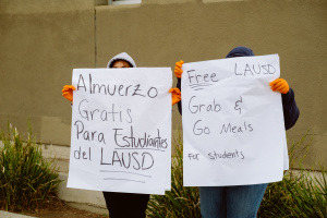 Here's What Happened The First Day LAUSD Handed Out Free Meals