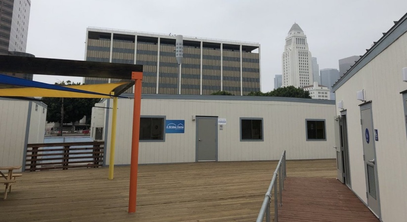 LA's First Emergency Homeless Shelter Under Mayor's Bridge Housing Initiative Opens Sept. 10