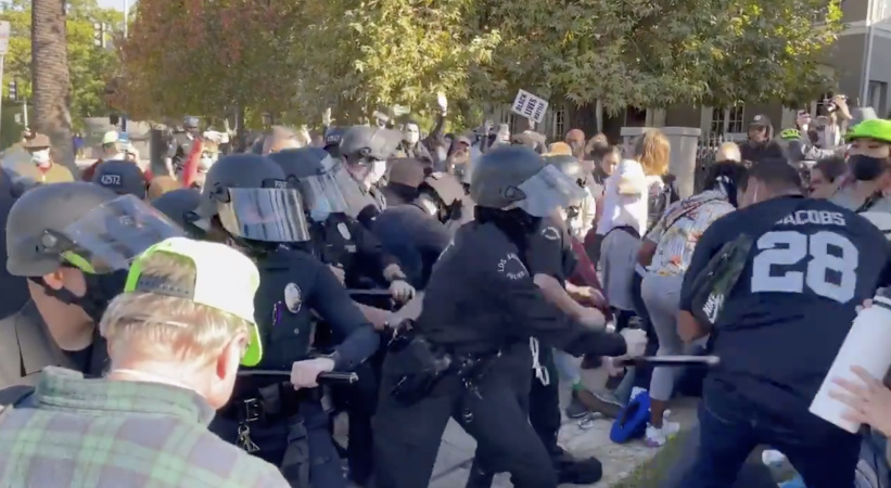 Mayor Garcetti Calls For 'Safety of Demonstrators And Police Officers' After Chaotic Protest Outside His Home