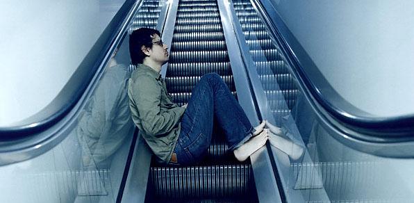 matthew good on an escalator