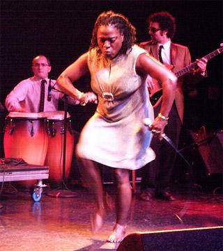 Sharon Jones can really dance at the el rey