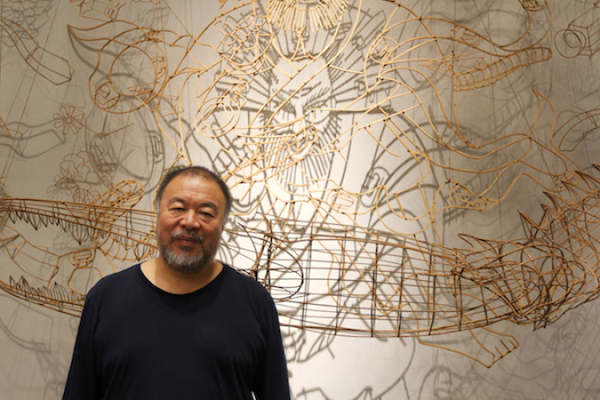 Art On Display At Ai Weiwei's LA Exhibit Was The Last Thing Shipped Before His Studio Was Destroyed