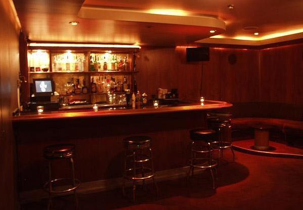 the basement bar at the Viper Room