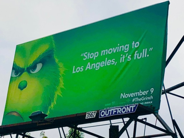 Essay: The LA Grinch Billboards Are Savage And Spot-On