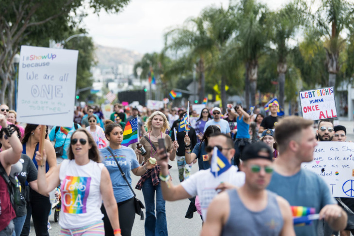 a978fffdb5 The L.A. Pride Festival and parade takes over West Hollywood this weekend.  (Emma McIntyre/Getty Images)