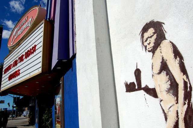 new banksy near the new beverly