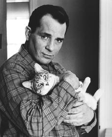 jack Kerouac with cat
