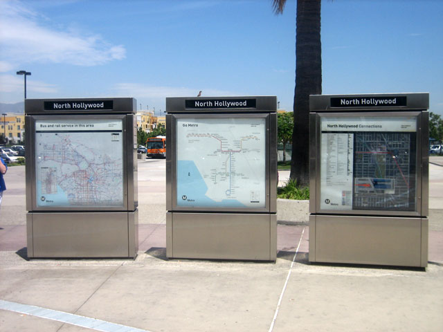 Three area maps at the NoHo Station