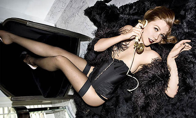 Maggie Gyllenhaal sports the new Agent Provocateur line