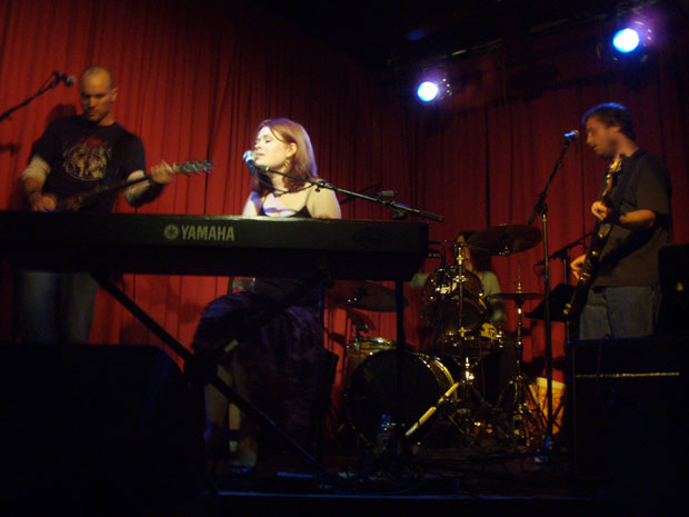 Libbie Schrader at her CD release party at the Hotel Cafe 11/8/07