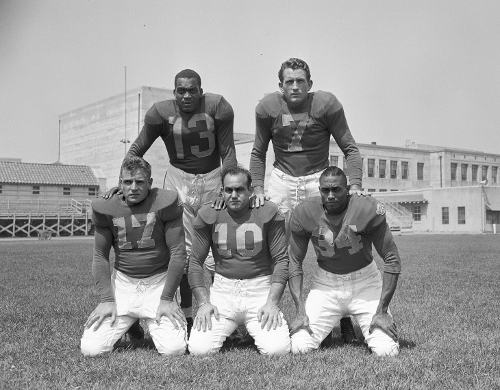 3d0e6ced964 Five members of the Los Angeles Rams who also played at the University of  California at Los Angeles
