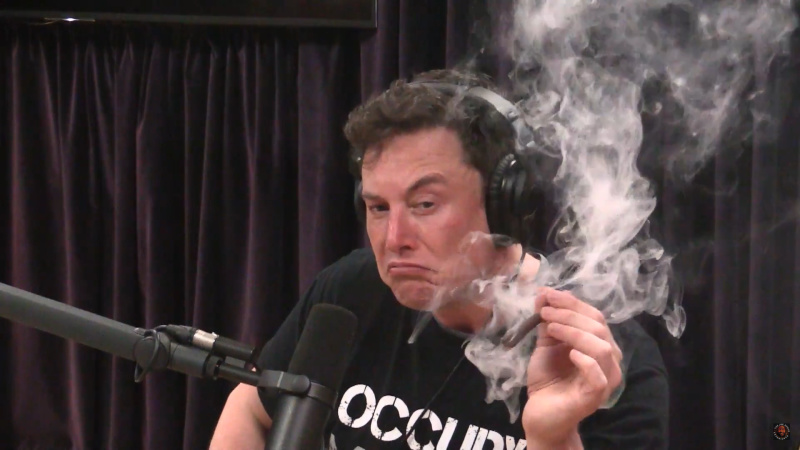 Elon Musk Smokes Weed With Joe Rogan -- And It's All On Camera
