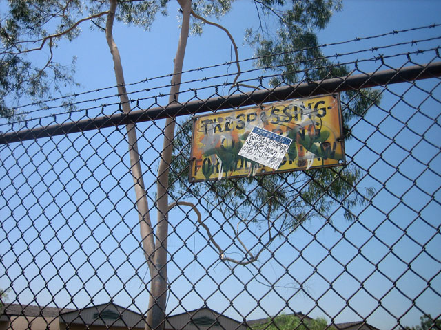 No Trespassing at the HP Res