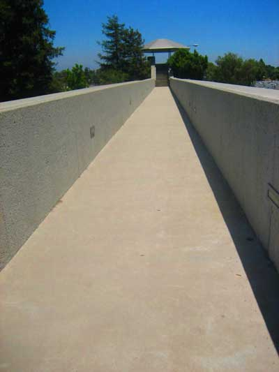 A walkway to a viewing site