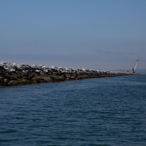 Long Beach's Coast Is Polluted. This Pile Of Gnarly Rocks Is Part Of The Reason