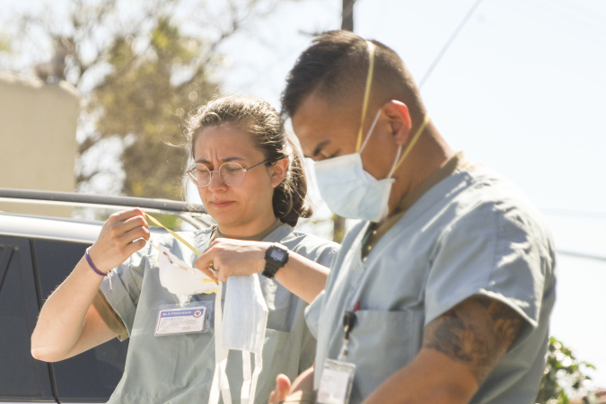 As Coronavirus Surges in California, National Guard Soldiers Fill Staffing Gaps