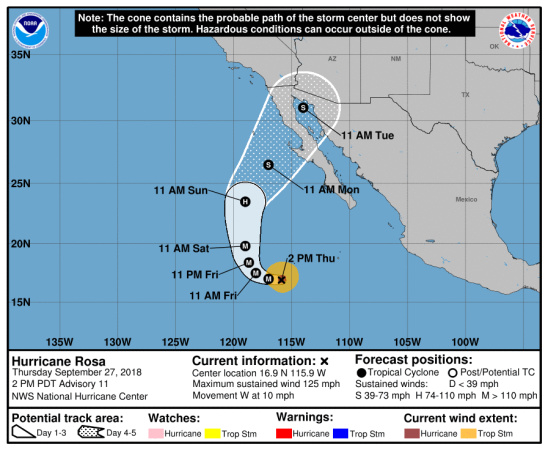 Words You Never Hear in LA: There's A Hurricane Heading Our Way