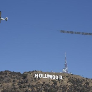 Activists Fly 'Hollywood: Stop Enabling Abuse' Banner Over Hollywood