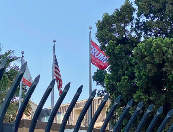 Long Beach Police Department Removes 'Unauthorized' Trump Flag Flying Over Headquarters