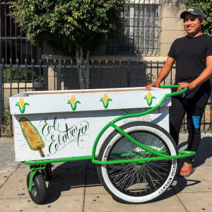 After Video Of Elotero Being Attacked Went Viral, Lowrider Bike Clubs Made Him A New, Custom Cart