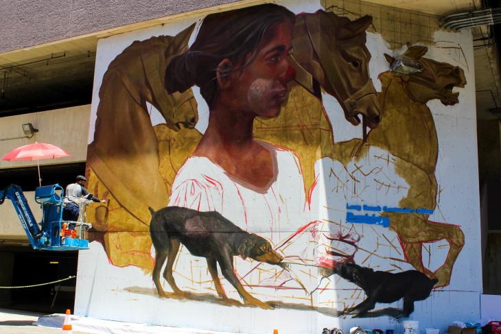 flower girl mural