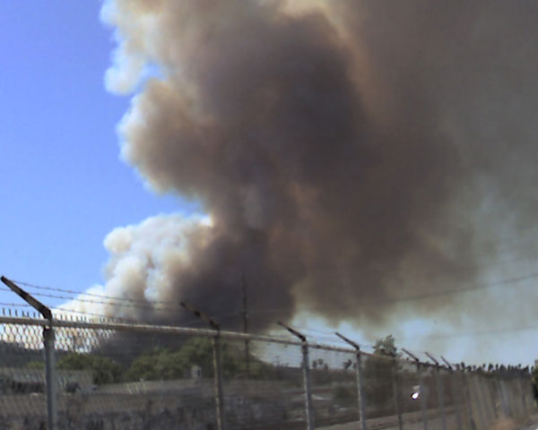 Fire in Griffith Park