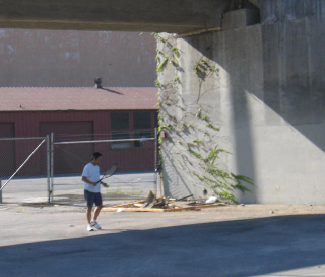 The Wimbledon of Chinatown, the Gold Line overpass