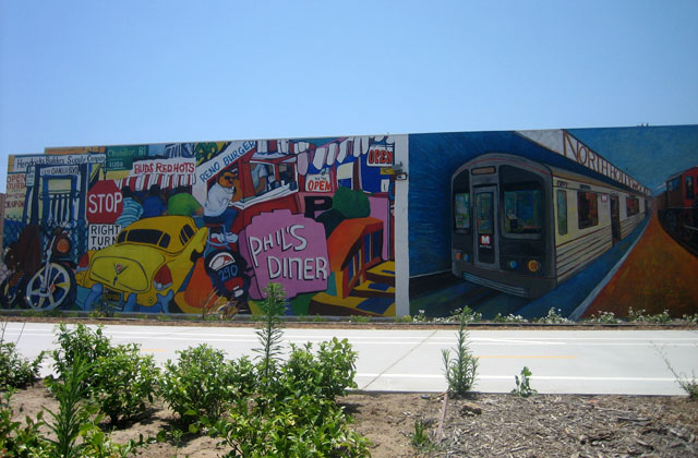 These are just a couple of the colorful murals along the Chandler Bike Path East of Vineland