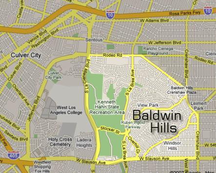 Baldwin Hills Map
