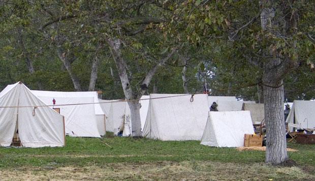 Tents set up for Civil War reenactment at Tierra Rejada Ranch on 11/11/07.