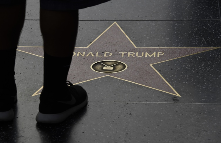 Someone Smashed Donald Trump's Hollywood Star -- Again