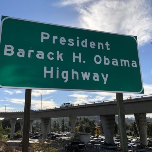 The Barack Obama Highway Is Now Official With New Signs On The 134 Freeway