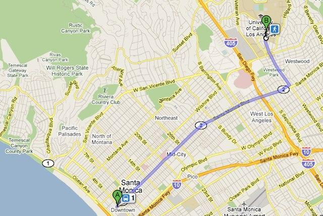 Big Blue Bus Now on Google Transit [Updated]: LAist Santa Monica Bus Map on san jose bus map, arizona bus map, seattle bus map, chicago bus map, baltimore bus map, san antonio bus map, houston bus map, escondido bus map, montebello bus map, big blue bus map, new york city bus map, los angeles bus routes map, boston bus map, san francisco bus map, saint paul bus map, california bus map, salt lake city bus map, london big bus tour map, norwalk bus map, tucson bus map,