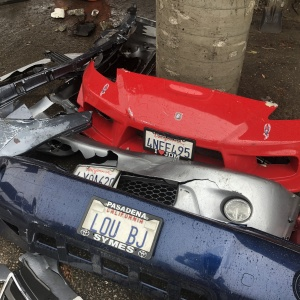 Dear LAist: What Happens To Orphaned Bumpers On The Side Of The Road?