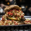 This 'Elote Burger' Comes With Fire-Roasted Corn, Chipotle Adobo And Hot Cheetos