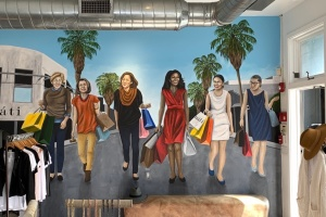 Internet Notoriety Strikes Venice Boutique's Mural of Top Women Democrats