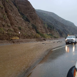 Mudslide Closes PCH As Storm Brings Thunder, Lightning And Evacuations To SoCal