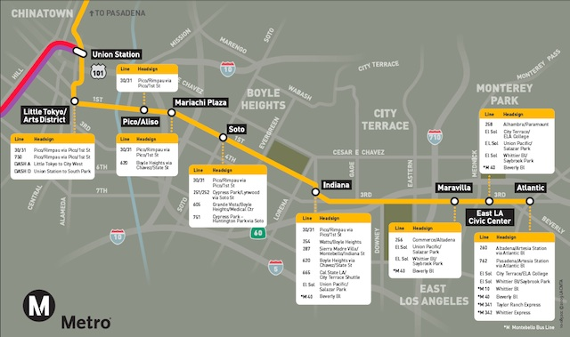 Map How To Connect To The New Metro Gold Line Eastside Extension Laist